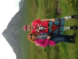 The review contributor with the tour guide, Ally, with the Glencoe in the background. , Katya I - July 2016