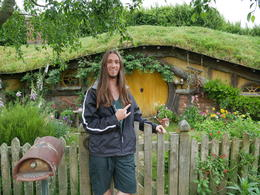 Myself in front of the previous hobbit hole , Hunter - December 2016
