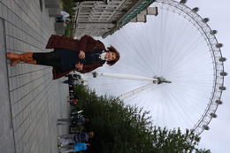 Grace on the way to the Coca-Cola London Eye , Donald D - August 2017
