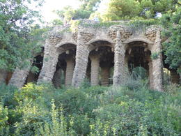 Aqueducts in Park Guell in Barcelona , Linda S - September 2017