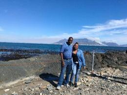 Eddie and Nancy Mukhethoni at Robben Island , Eddie M - October 2017