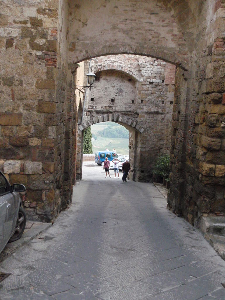 Double rampart walls and gates of Montepulciano - Rome