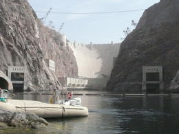 Hoover Dam wall and water tunnels , Jennifer B - November 2011