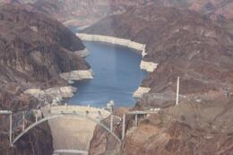 View of the Hoover dam form the helicopter - April 2010