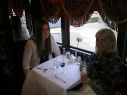 Mum Sylvia and Daughter Angie enjoying the colonial tram dinner. Fabulous , Sylv - October 2011