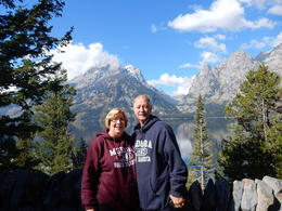 This was taken at Jenny Lake in Jackson Hole, Wy with the Tetons in the background. , Alan V - October 2016