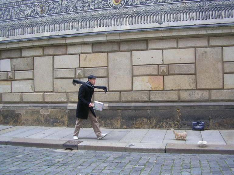 Mime in the street - Prague