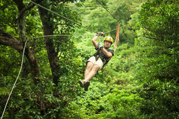 Ziplining on a Canopy Tour - May 2011
