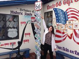 Angel Delgadillo Gift Shop at the Historic Route 66, Sara - February 2017