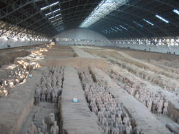 Ranks of terracotta warriors - June 2012