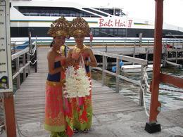Beautifully dressed Balinese Beauties welcoming at the dock., Madhav N - November 2008