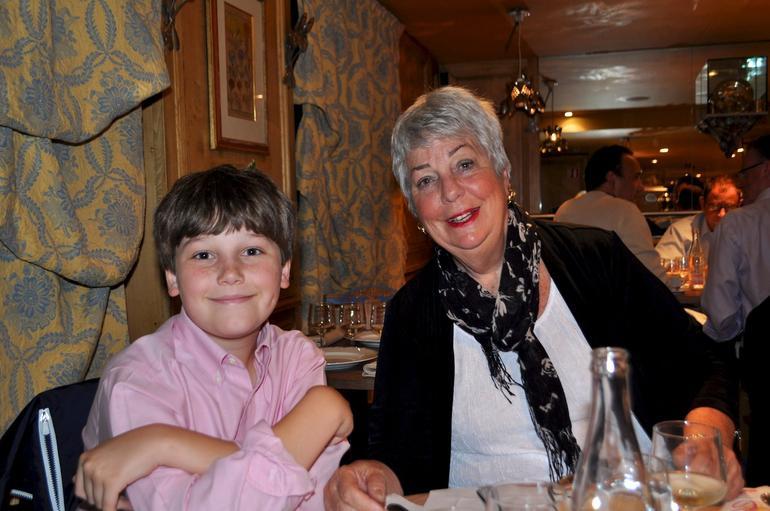 With Grandma C.C. at Chez Clement - Paris