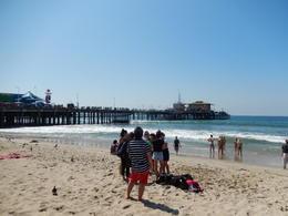 Santa Monica beach and famous pier , lileblanc - December 2016