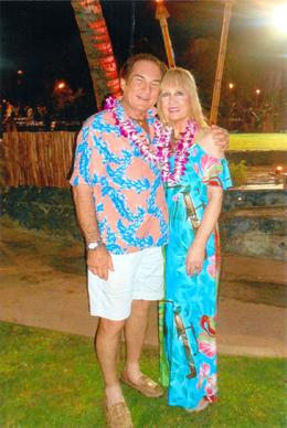 Charlie and LInda totally enjoying the Old Lahaina Luau , Charlie H - September 2017