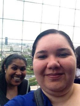 Juanita and i on level 2 taking in the amazing views , Roshy - January 2018