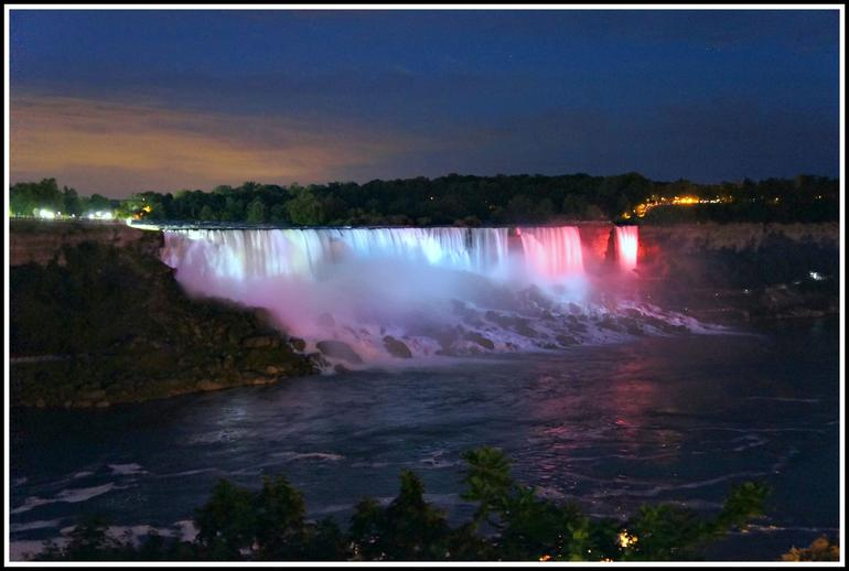 American Falls by night - Niagara Falls & Around