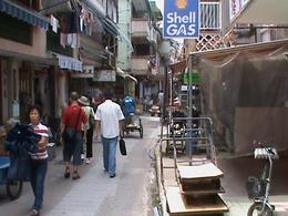 Another typical street view where a number of shops catering to locals needs exist., Allan Smales - August 2009