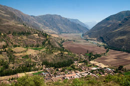 Cliff overlooking the Sacred Valley and the Urubamba river, Cusco - June 2011