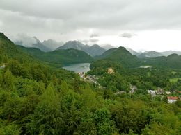 Hohenschwangau Castle as seen from Neuschwanstein Castle spectacular scenery whatever the weather , Galen S - June 2016