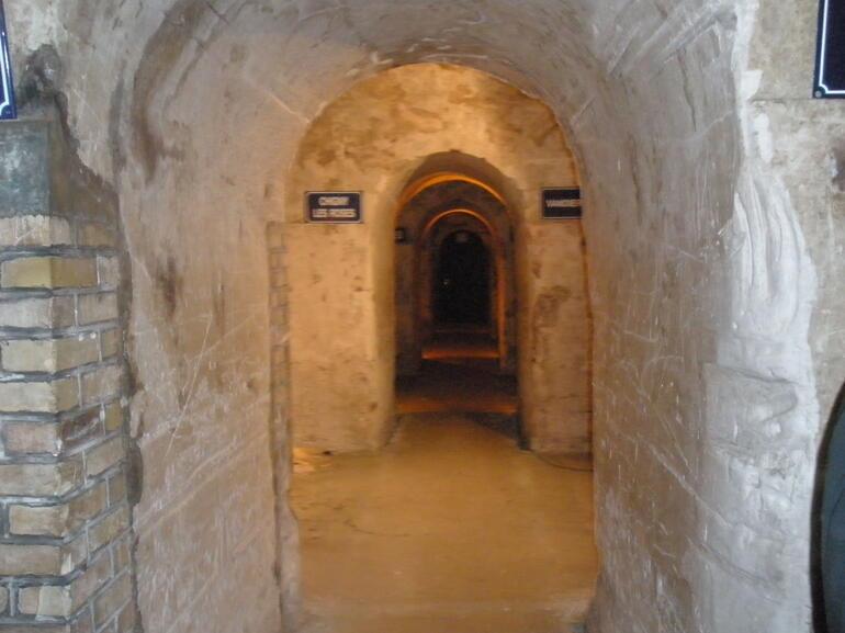 Inside the caves at Mumm - Paris