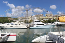 The view of the other yachts/catamarans on the marina , Cassandra H - September 2015