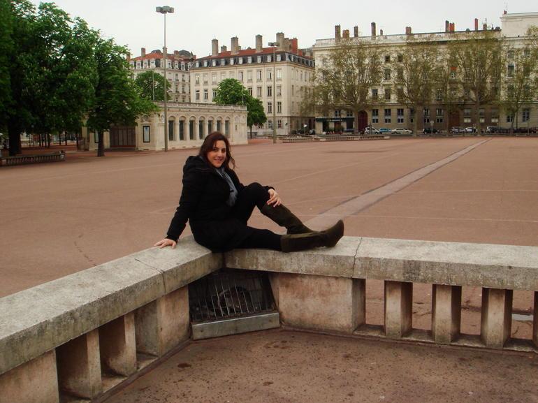 My friend posing at Place Bellecour - Lyon