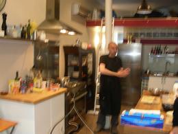 In the kitchen where we learned how to make some fine cuisine., John M - August 2008