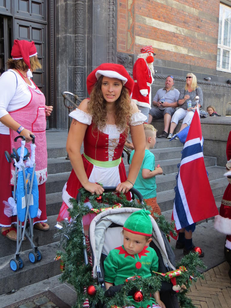 Yearly convention of Santa Claus - Copenhagen