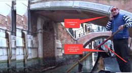 As pessoas que olhavam a gondola, podiam observar o risco. , Fernando A - November 2017