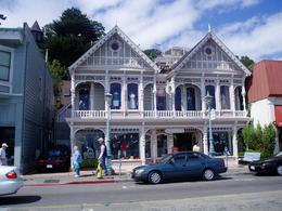 This building is now a shop, but shows the beauty of the original buildings in Sausalito., Wendy D - September 2007