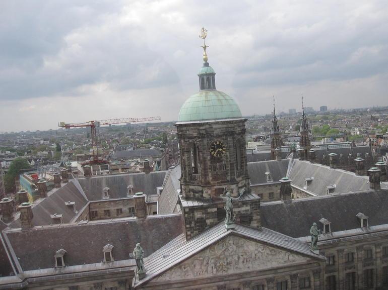 Blick vom Riesenrad am Koningsdag - Amsterdam