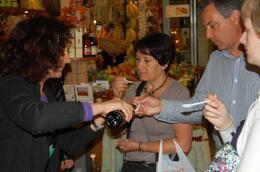 Tasting olive oil., Frances - June 2010