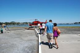 Getting in the helicopter - August 2009