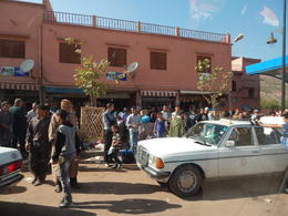 When passing through one of the villages it was market day, where the locals where stocking up to celebrate EID , madmel4 - October 2014
