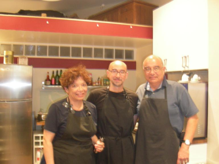 My wife and I with the Chef - Paris