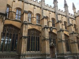 This is the building where Harry Potter's Infirmary scenes were filmed as well as the dance rehearsal scenes were filmed in the Goblet of Fire when Ron had to dance with Professor McGonagall , Jeffery R - July 2016