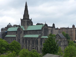The outside of Glasgow Cathedral , Amy - June 2013