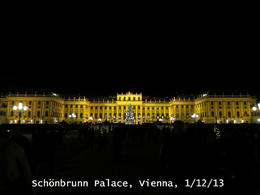 Our view of the palace before the concert , Michael B - December 2013