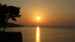 Sunset in Sorrento from the Hotel Ambasciatori. , Barry B - May 2015