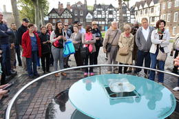 Learning from the Yeoman about the memorial to those executed at the Tower, including the three English queens, Anne Boleyn (1536), Lady Jane Grey (1554) and Catherine Howard (1542) were beheaded. , Brett S - December 2014