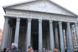 The exterior of the Pantheon , Melissa W - November 2014