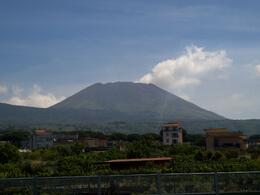Taken through the bus window near Pompei. I was amazed to learn that 900,000 people live near the slopes of Vesuvius today., Charles P - June 2010