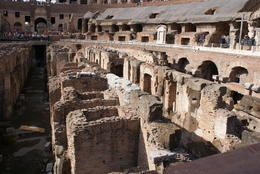 Looking into the lower level of the Coliseum. , Gennaro - October 2017