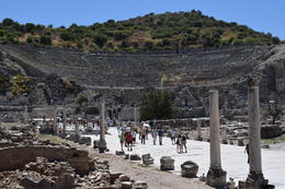 The stage in Ephesus. Imagine where the Apostle Paul stood. , Donald D - December 2017