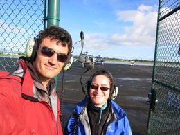 Jacket - check. Headset - check. Heli - check. Sunny weather - check!, Patricia P - December 2014