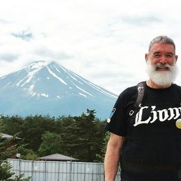 In front of Mount Fuji , John T - June 2015
