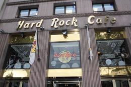 Outside of Hard Rock Cafe in Barcelona, Pamela W - October 2010