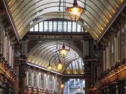 Leadenhall Market was used as Diagon Alley in the first Harry Potter film and has been used in lots of other films too. , London Expert: Gavin - March 2011
