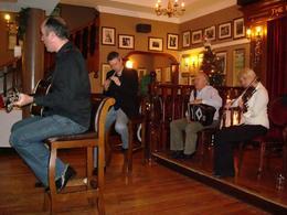 The Irish band playing - in true Irish tradition - June 2008