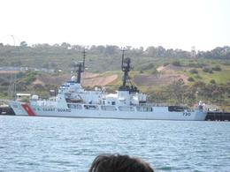 Cruising past the Coast Guard, Dani - December 2011